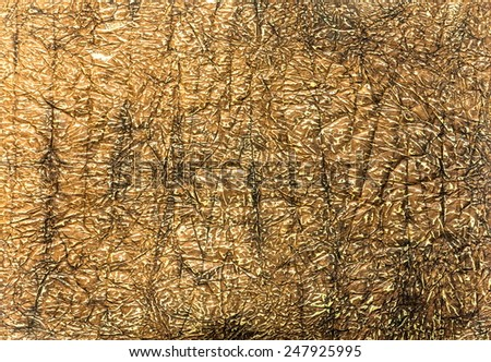 Fragment of blank Egyptian papyrus for textured background  - stock photo