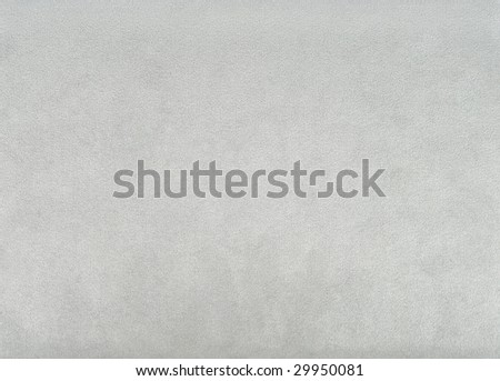 Fragment of clean new grey suede material - stock photo