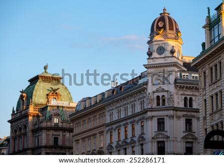 Fragment of Graben Street, Vienna, Austria - stock photo