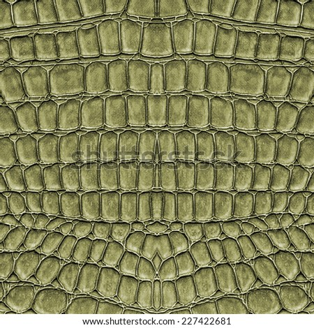 fragment of green reptile skin texture - stock photo