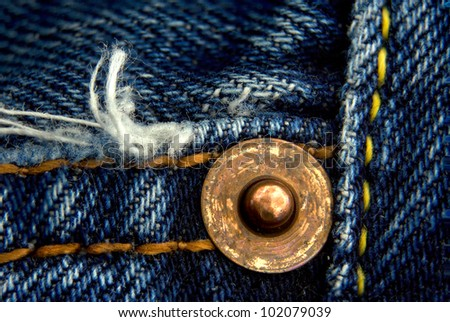 Fragment of jeans, macro, blended from five photos for bigger depth of field
