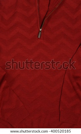fragment of knitted sweaters - stock photo
