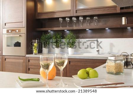 fragment of modern kitchen. Series 21336115 21336118 - stock photo