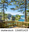 Fragment of ocean view from Soleduck trail in Olympics park, Washington, USA - stock photo