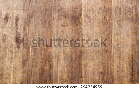 fragment of old dirty plywood, wooden background - stock photo