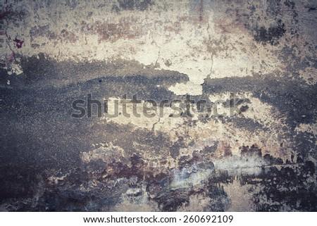 fragment of old plaster - stock photo