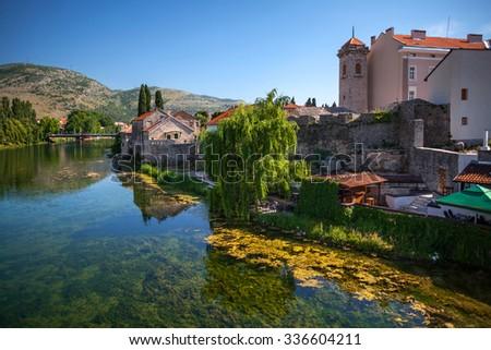 Fragment of old town Trebinje in Bosnia&Hercegovina. - stock photo