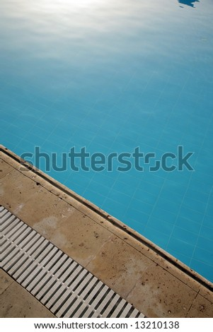 Fragment of pool with transparent water - stock photo