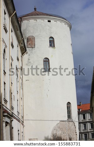 Fragment of Riga Castle in Latvia. The Castle was built by Livonian order - stock photo