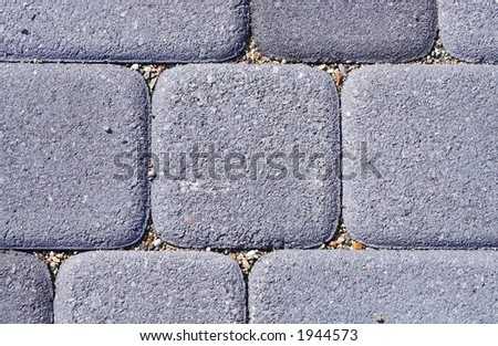 Fragment of stacked cover from the pressed blocks - stock photo