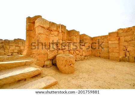 Fragment of the Avdat National Park World Heritage Sate. Israel. - stock photo