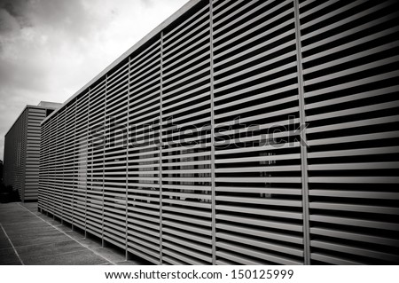 Fragment of the Israeli Museum public building - stock photo