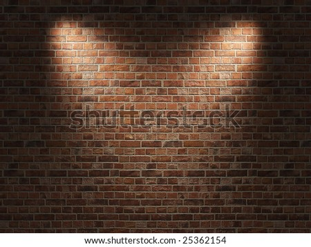 Fragment of the shined  brick wall - stock photo