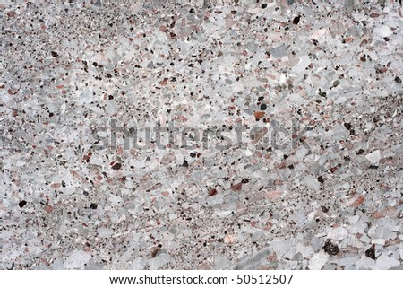 fragment of wall from grey concrete c rift - stock photo