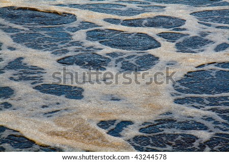 Fragment of Wastewater treatment process - stock photo