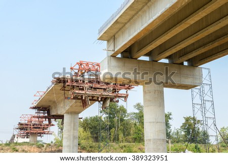 fragment view of the cement bridge under construction