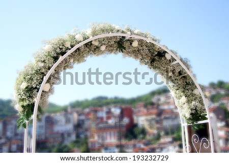 fragment wedding Arch - stock photo