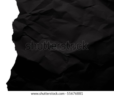 FRAGMENTARY CRUSHED PAPER - stock photo