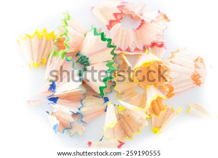 Fragments of colored pencils - stock photo