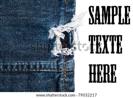 fragments of jeans, denim cloth close-up