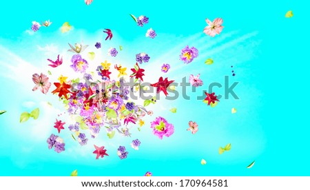 Fragrance and perfume concept. - stock photo