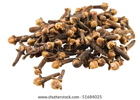 Fragrant clove on white background