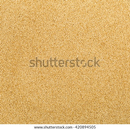 Fram filling raw, uncooked  amaranth seeds background - stock photo