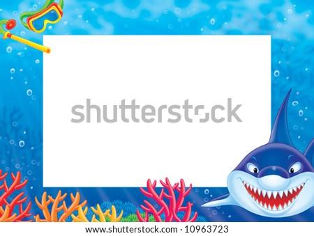 Frame Border Shark Stock Illustration 10963723 - Shutterstock