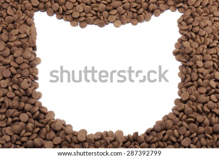 Frame cat of pet food for background use - stock photo