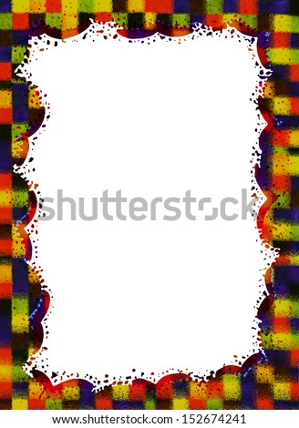 Frame colorful abstract background.Graphic design.