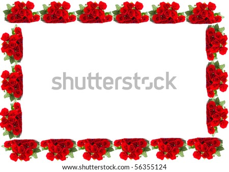 frame composed of flowers