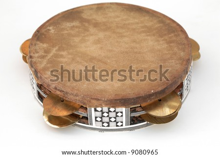 Frame drum, isolated - stock photo