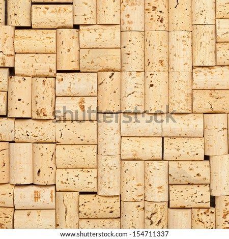 Frame filling blank wine corks background texture