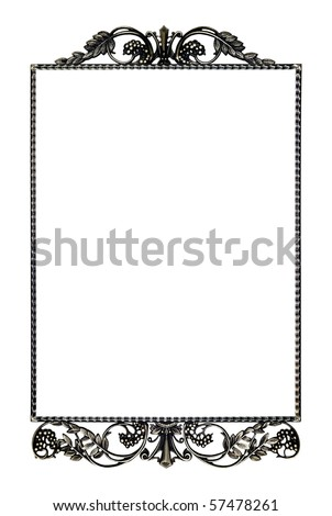 Frame for a mirror isolated on a white background - stock photo