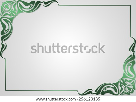 Frame for design greeting cards . - stock photo