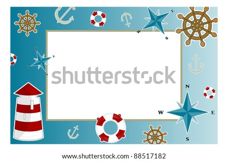 frame for photo with marine issues - stock photo