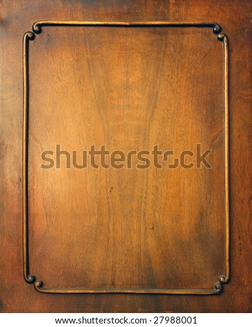 Frame. Fragment of door of old furniture - stock photo