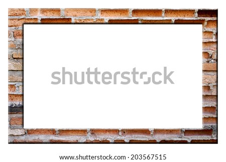 frame from brick - stock photo