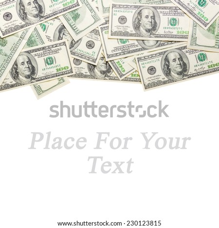 Frame from dollars isolated for your design - stock photo