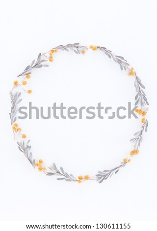frame from flowers - stock photo