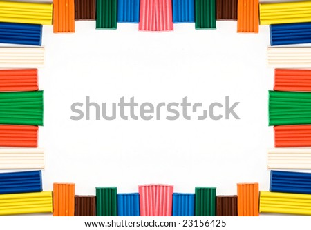 Frame from plasticine. - stock photo