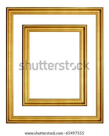 frame gold - stock photo