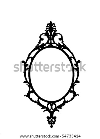 Frame in ornate style - stock photo