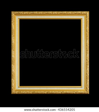 Frame isolated on a black background. - stock photo