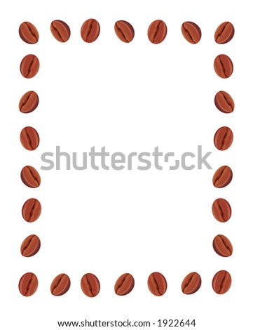 Frame made from coffee beans - stock photo