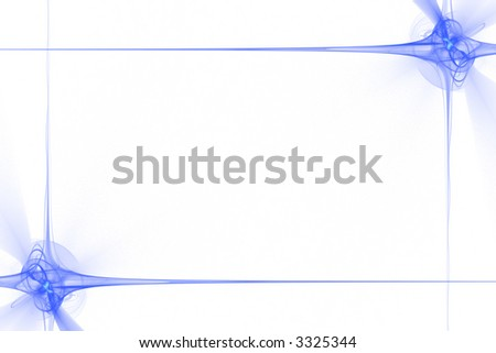 Frame made of abstract blue flashes or stars over white - stock photo