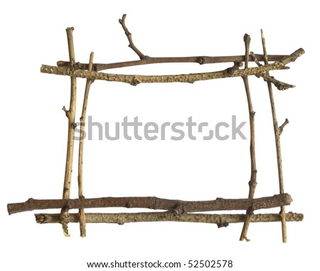 frame made of branches