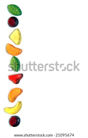 Frame made of colorful candies - stock photo