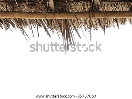 Frame made ??of dried leaves - stock photo