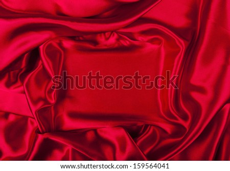 frame made of red silk, satin background